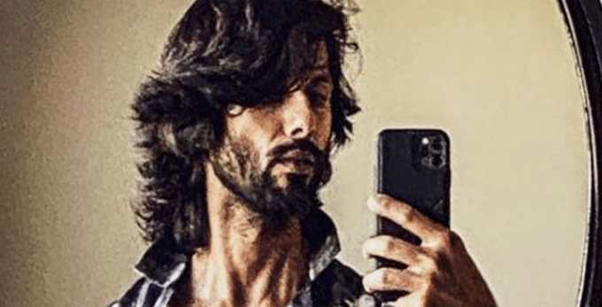 The 'Kabir Singh' star showcasing his full-grown beard and the new hairstyle