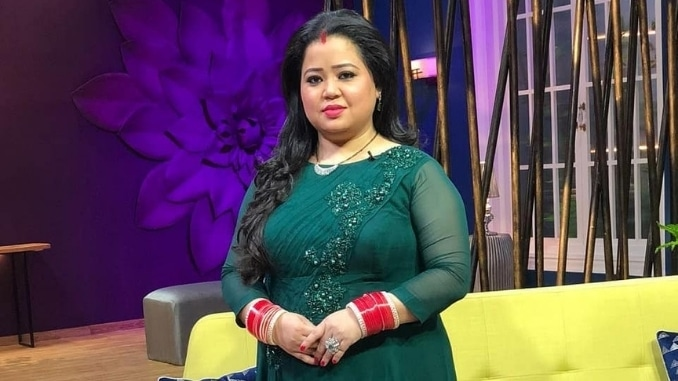 Comedian Bharti Singh being questioned by the Narcotics Control Bureau