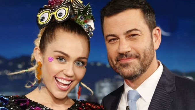 Miley Cyrus number of tattoos revealed on Jimmy Kimmel show-Trendy Bash