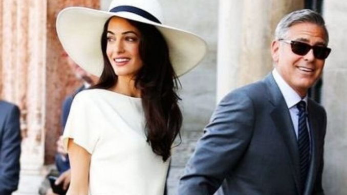 George Clooney says wife Amal beat him and Obama In a Basket Ball game-Trendy bash