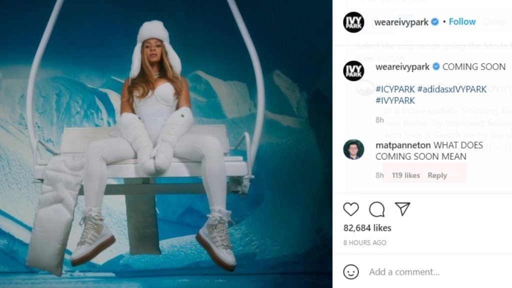 Adidas - Ivy Park: Beyonce's Drops New Adidas - Ivy Park Collection, titled 'Icy Park'