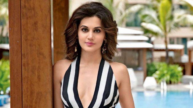 Taapsee Pannu shares BTS picture from 'Looop Lapeta' - Trendy Bash