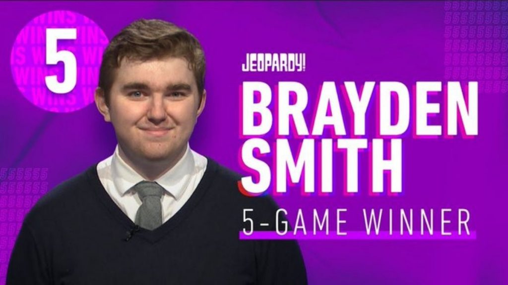 Brayden Smith, Five-time 'Jeopardy!' Champ, dies at 24 Trendy Bash