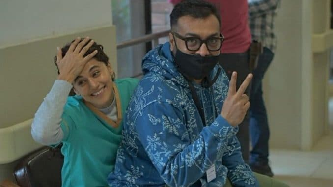 Taapsee Pannu shares BTS picture from sets of 'Dobaaraa'