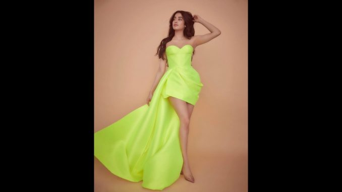 Janhvi Kapoor treats fans to stunning pictures in a neon green ensemble