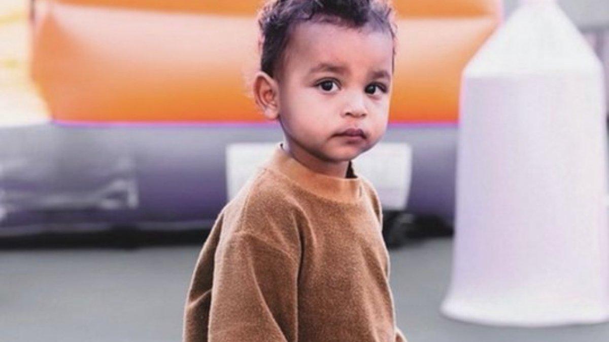 Kim Kardashian shares a picture of 'sweetest boy' Psalm