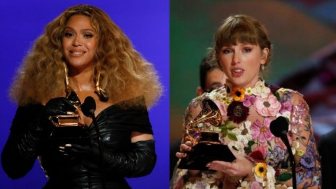 Michelle Obama congratulates Beyonce, Taylor Swift on Grammy wins