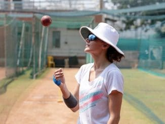 Taapsee Pannu preps for 'Shabaash Mithu'