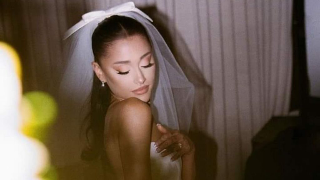 Ariana Grande shared adorable glimpses from her wedding day
